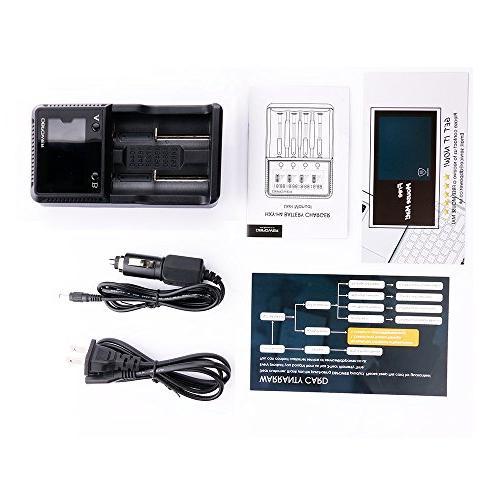 2-slot LCD Charging Smart Rechargeable Ni-MH AA Li-ion LiFePO4 IMR 26650 18490 17335 16340 10440