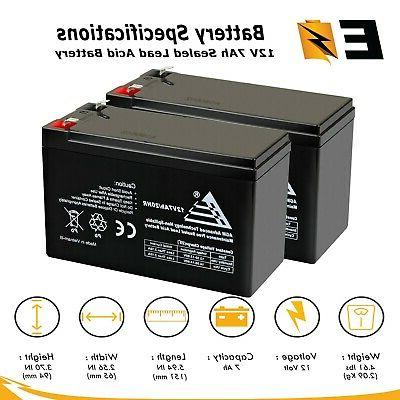 2 pack 12v 7ah battery replacement