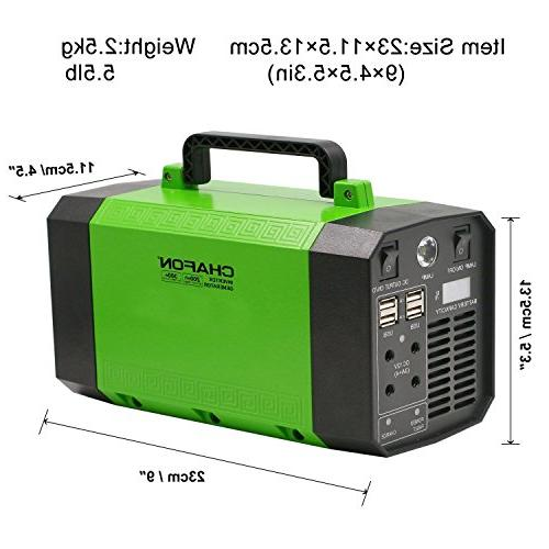 CHAFON Portable Generator Power Station Rechargeable CPAP Battery Inverter with 12V, USB Ports Camping
