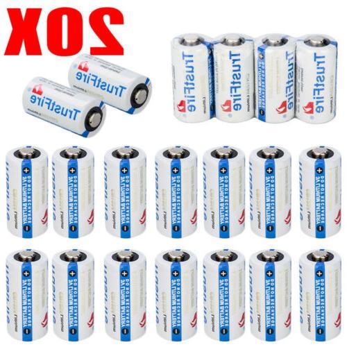 50PCS 3V Lithium CR123A 123 CR123 Batteries for Camera, Flas