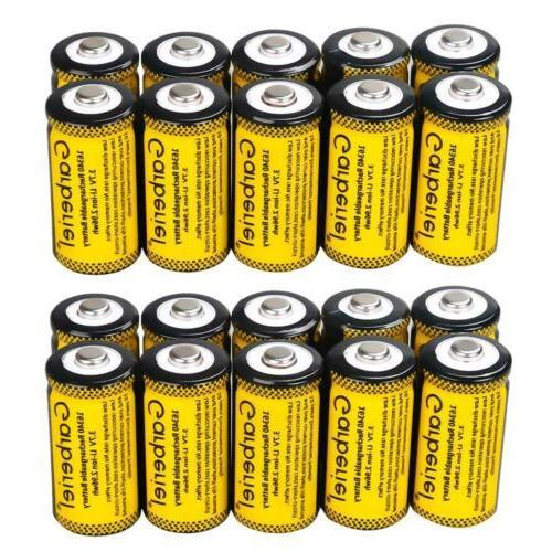 20pcs 16340 cr123a 3 7v li ion