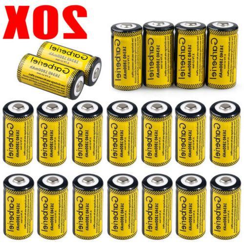 20pcs cr123a 3 7v li ion rechargeable