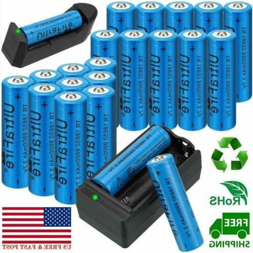 20x 18650 battery 3 7v li ion