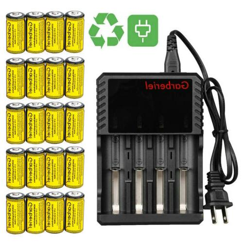 20PCS Rechargeable CR123A Batteries 3.7V for Arlo Security