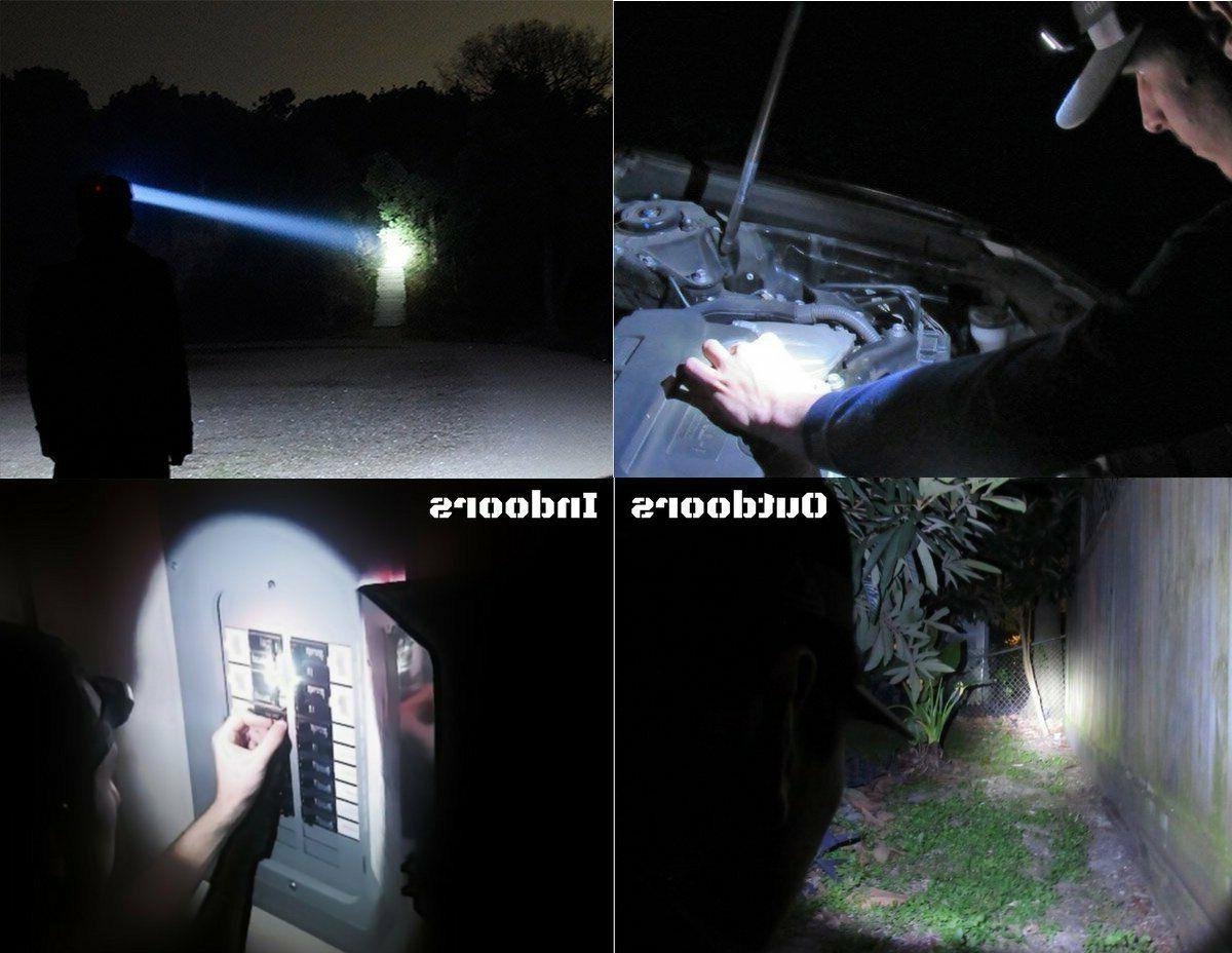 Headlamp 200000LM LED Rechargeable Headlight