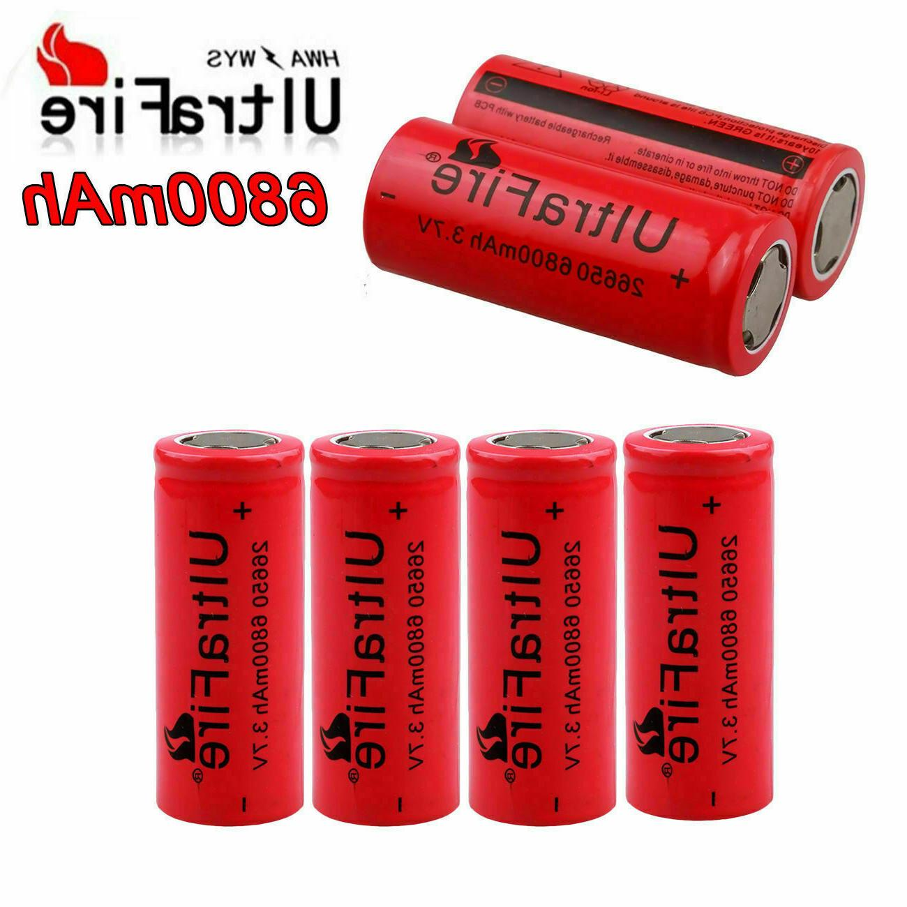 26650 Battery Flat Batteries For Torch