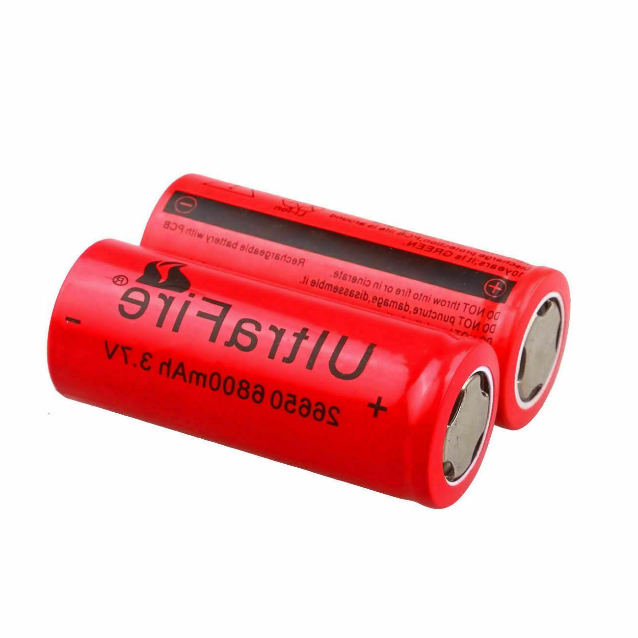 26650 Battery 6800mAh 3.7V Batteries