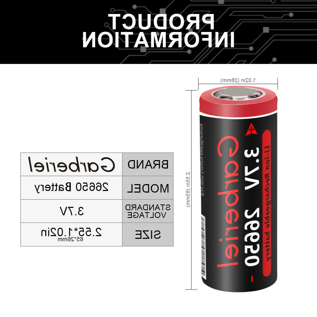 26650 Battery Flashlight Torch