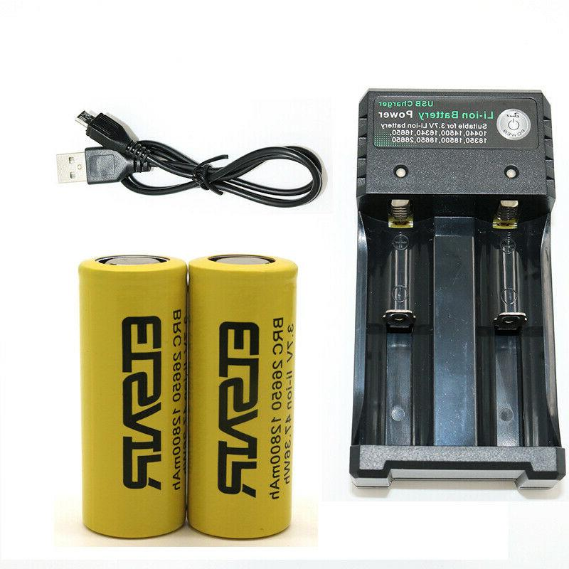 26650 Rechargeable 3.7V 26650 Batteries Smart Charger