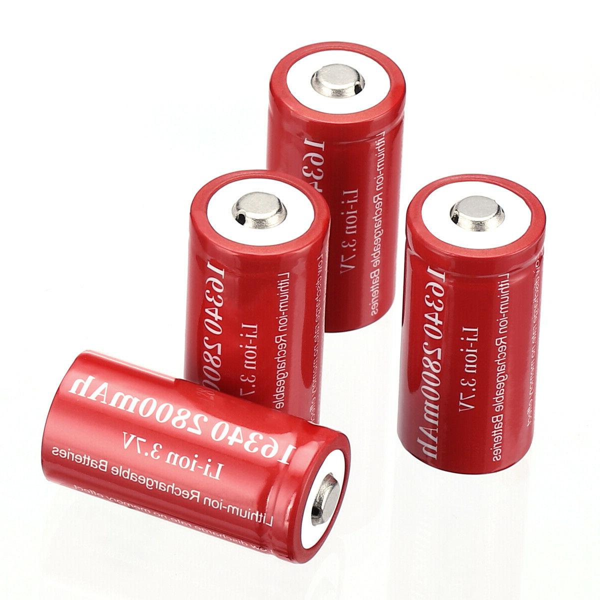 2800mAh Rechargeable Li-ion Battery Smart Charger Lot