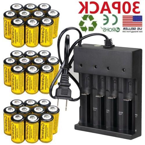 2800mah batteries cr123a 16340 rechargeable li ion