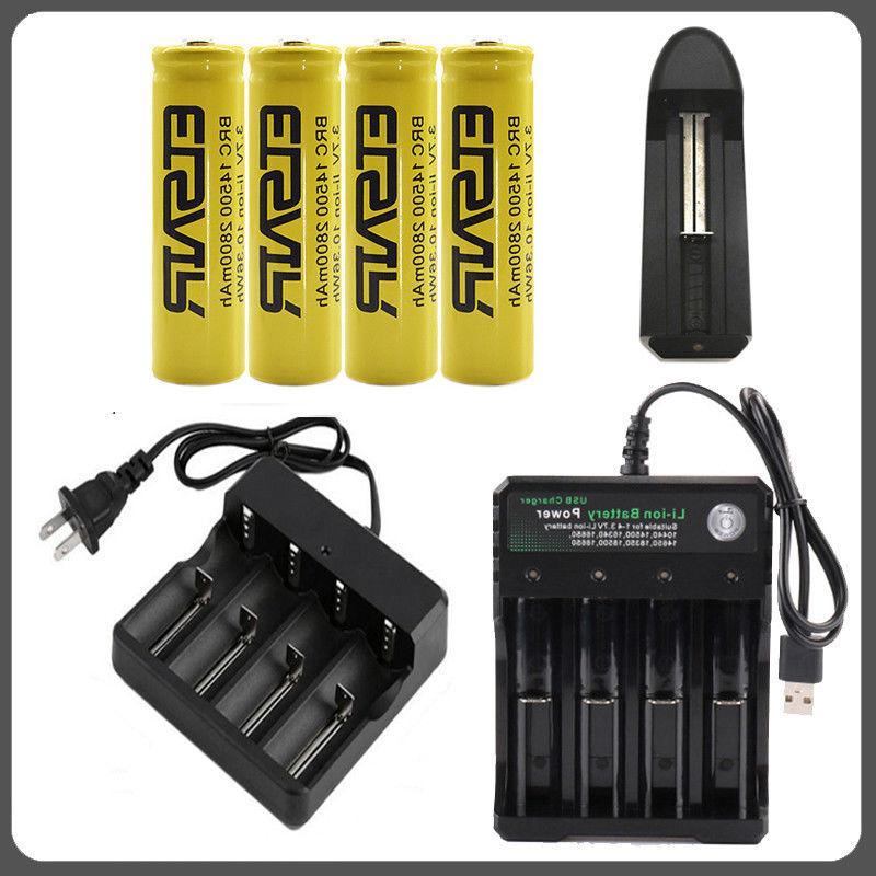 2800mah rechargeable 14500 battery 3 7v li