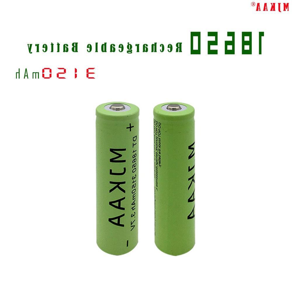 2pcs 3150mah 18650 font b rechargeable b