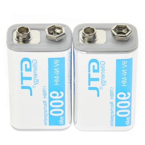 2pcs 9v 900mah 17r8h block rechargeable battery