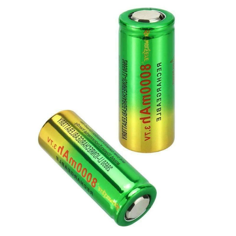 26650 Battery Li-ion with USB For Torch USA