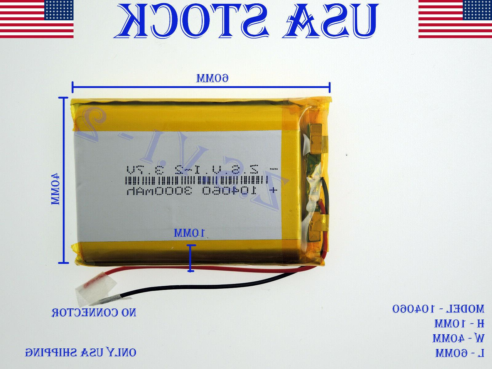 3 7v 3000mah 104060 lithium polymer lipo
