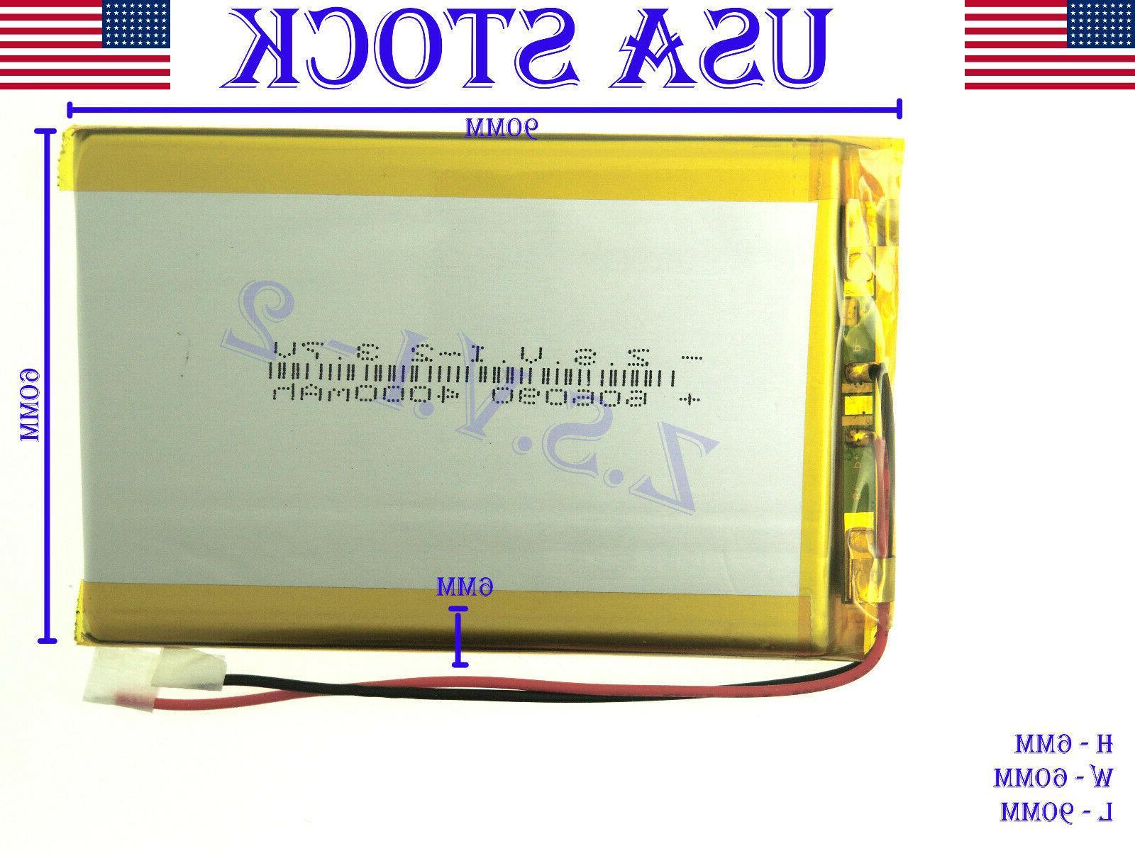 3 7v 4000mah 606090 polymer lithium lipo