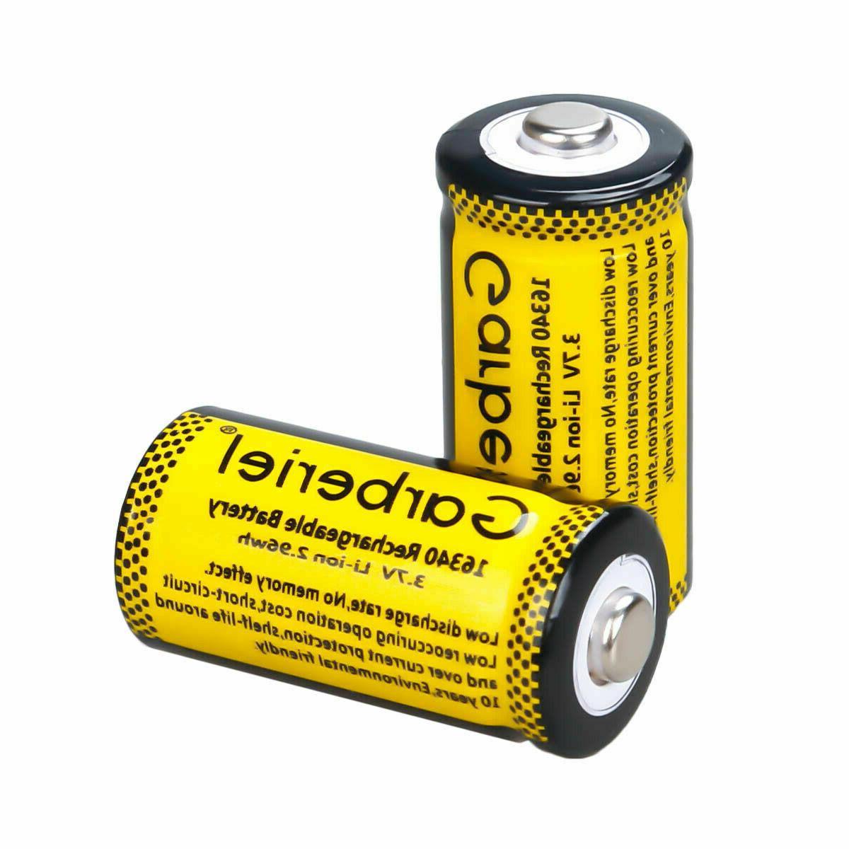 3.7V CR123A Batteries Set Security Camera Lot