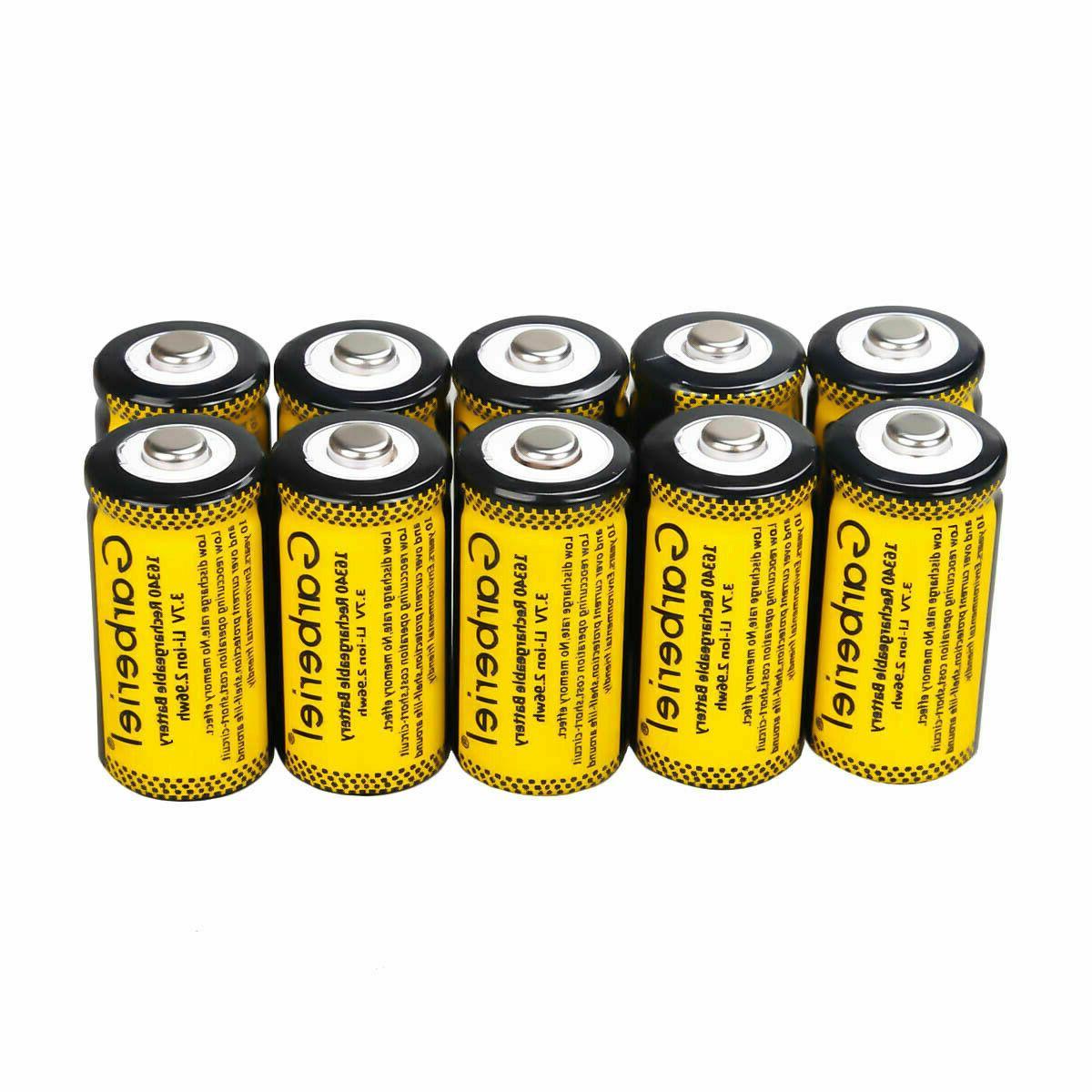 3.7V Li-Ion 2800mAh CR123A Batteries Set Security Camera Lot