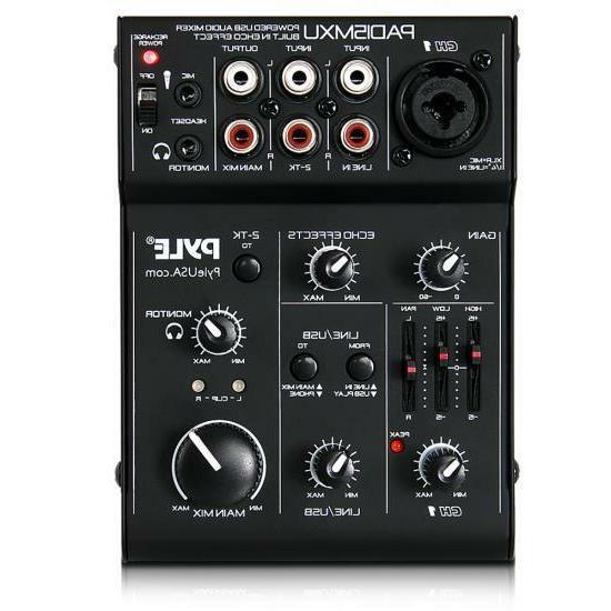 3 channel usb audio sound mixer recording