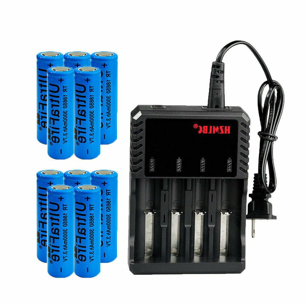 3000mAh 18650 Battery Drain Rechargeable 3.7V Flat