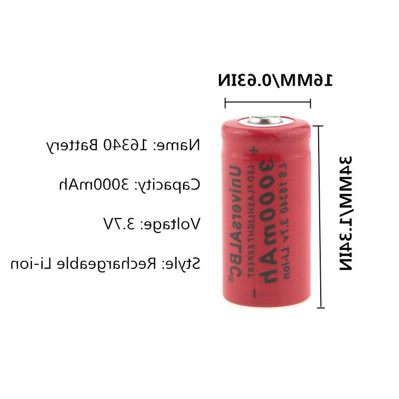 3000mAh 16340 For LED Wall Charger 16340 CR123A <font><b>Battery</b></font>