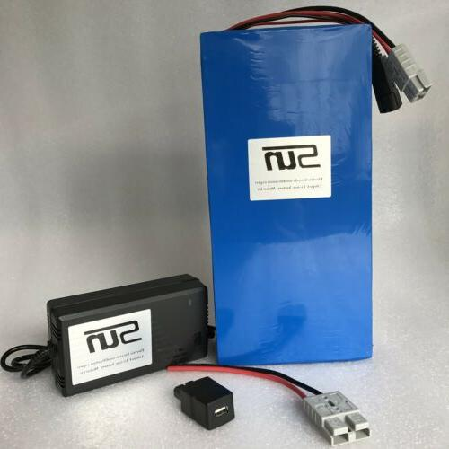 36v20ah LiFePO4 Batteries 5A Charger BMS Electronics Recharg