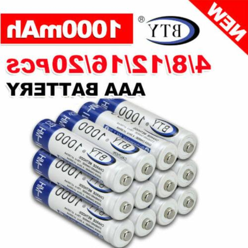 4-20pc BTY Battery Rechargeable 3000mAh Ni-MH