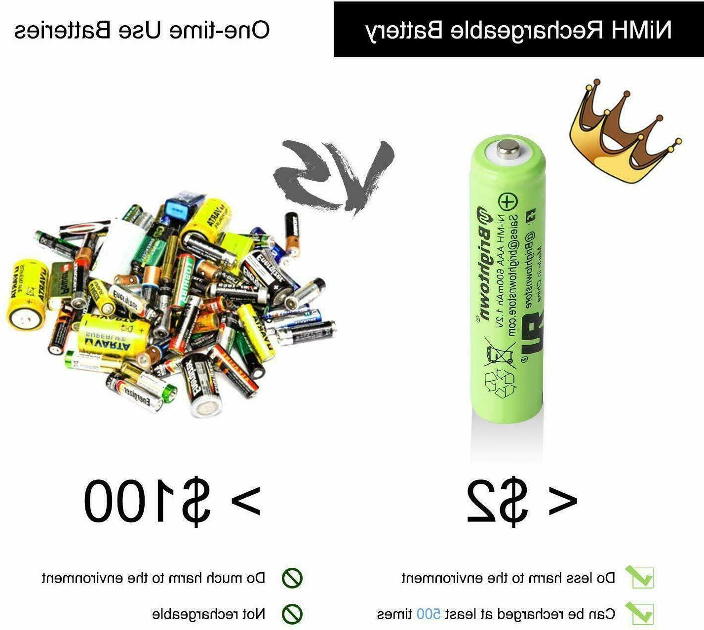 4-16 Rechargeable Batteries Ni-Mh 800mAh Charger Ni-Mh