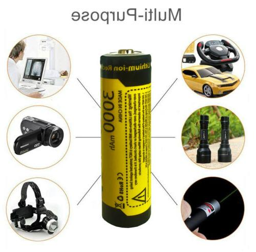 8PCS Rechargeable 3000mAh 3.7V for
