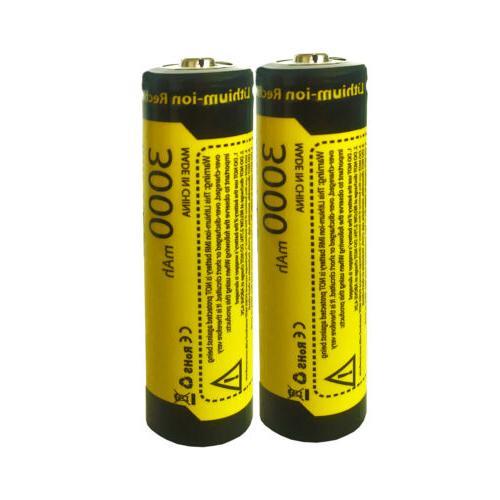 8PCS 3.7V Li-ion for Flashlight