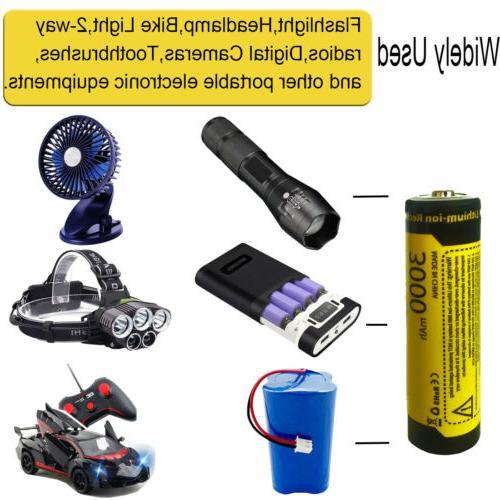 8PCS Rechargeable Battery 3.7V Li-ion Batteries for Flashlight