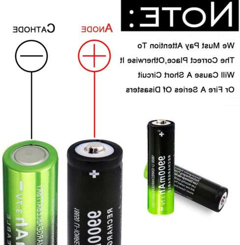 4 Rechargeable Battery Li-ion Universal Charger