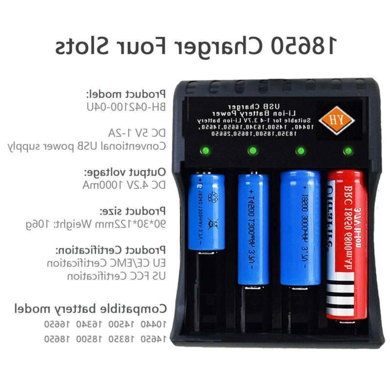 4 pack 1865*0 BATTERIES button top+4-Slot USB