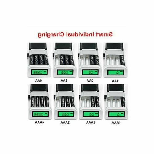 4 Slots Charger For /AAA NiCd Batteries