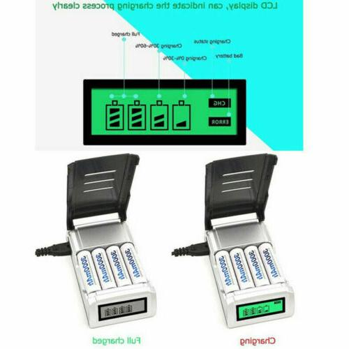4 Slots Charger For /AAA NiCd Rechargeable