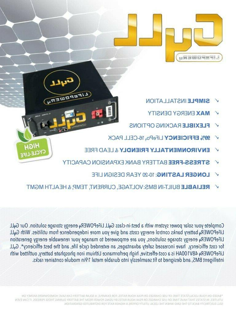 NEW 48V 100AH LiFePo4 Lithium Ion 5yr Warranty