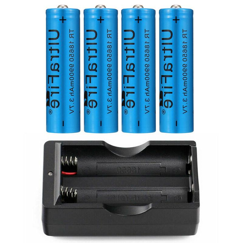 4PC UltraFire 18650 9900mAh Battery Batteries + Charger