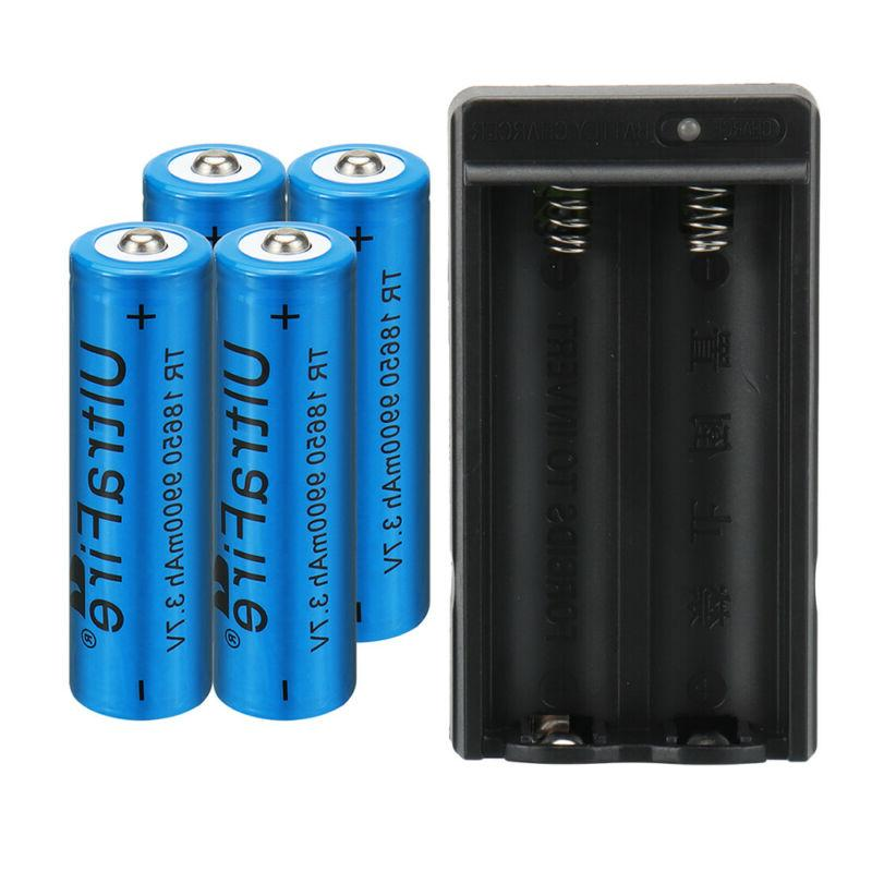 4PC UltraFire 9900mAh Battery Batteries +