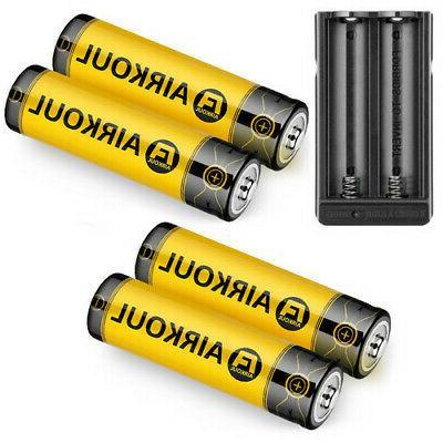 4pc BRC 18650 Battery Li-ion +Dual for