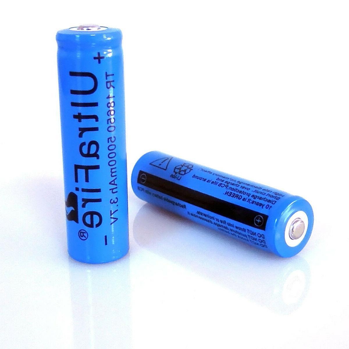 4pcs 18650 Li-ion Rechargeable Batteries USA