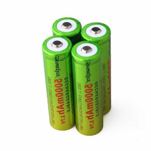 4PCS 18650 Rechargeable 3.7v +