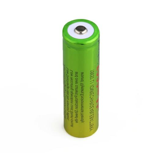 4PCS Skywolfeye 18650 Battery Rechargeable + Charger USA