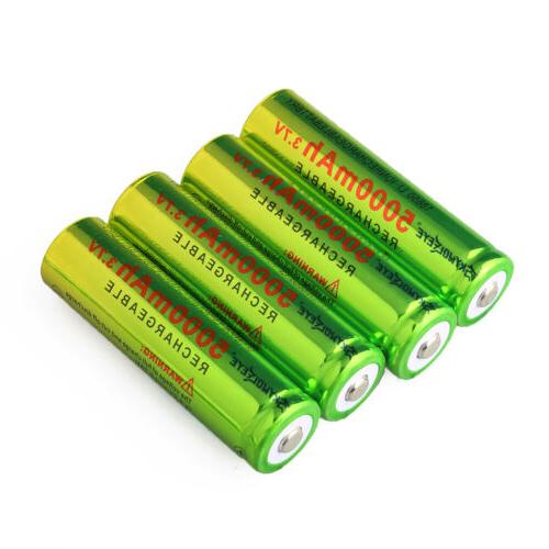 4PCS Skywolfeye 18650 Battery Rechargeable + 1x Charger