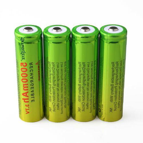 4PCS 18650 Battery + 1x