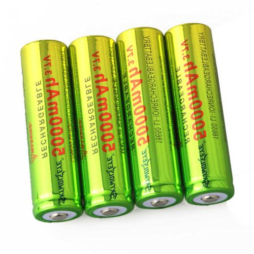 4PCS Skywolfeye Rechargeable 3.7v 5000mAh Li-ion + 1x