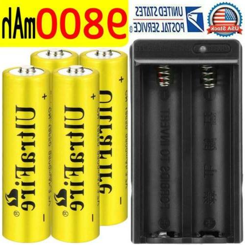 4pcs 18650 battery rechargeable 3 7v 5000mah