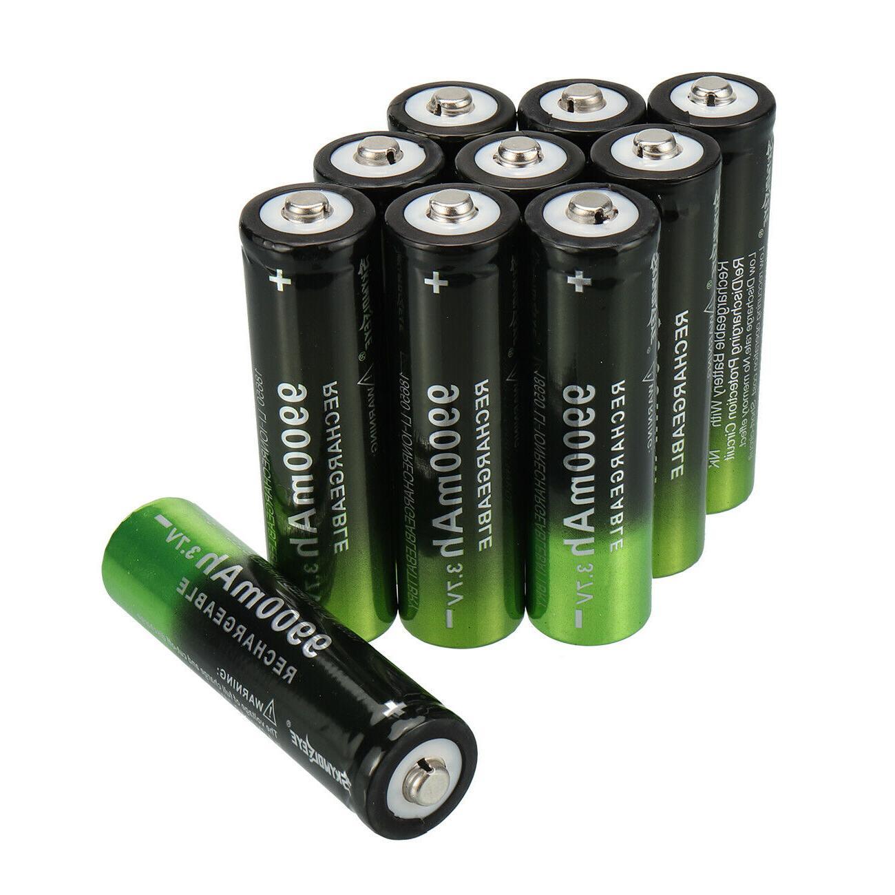 10X Battery 3.7V Li-Ion Cell LED