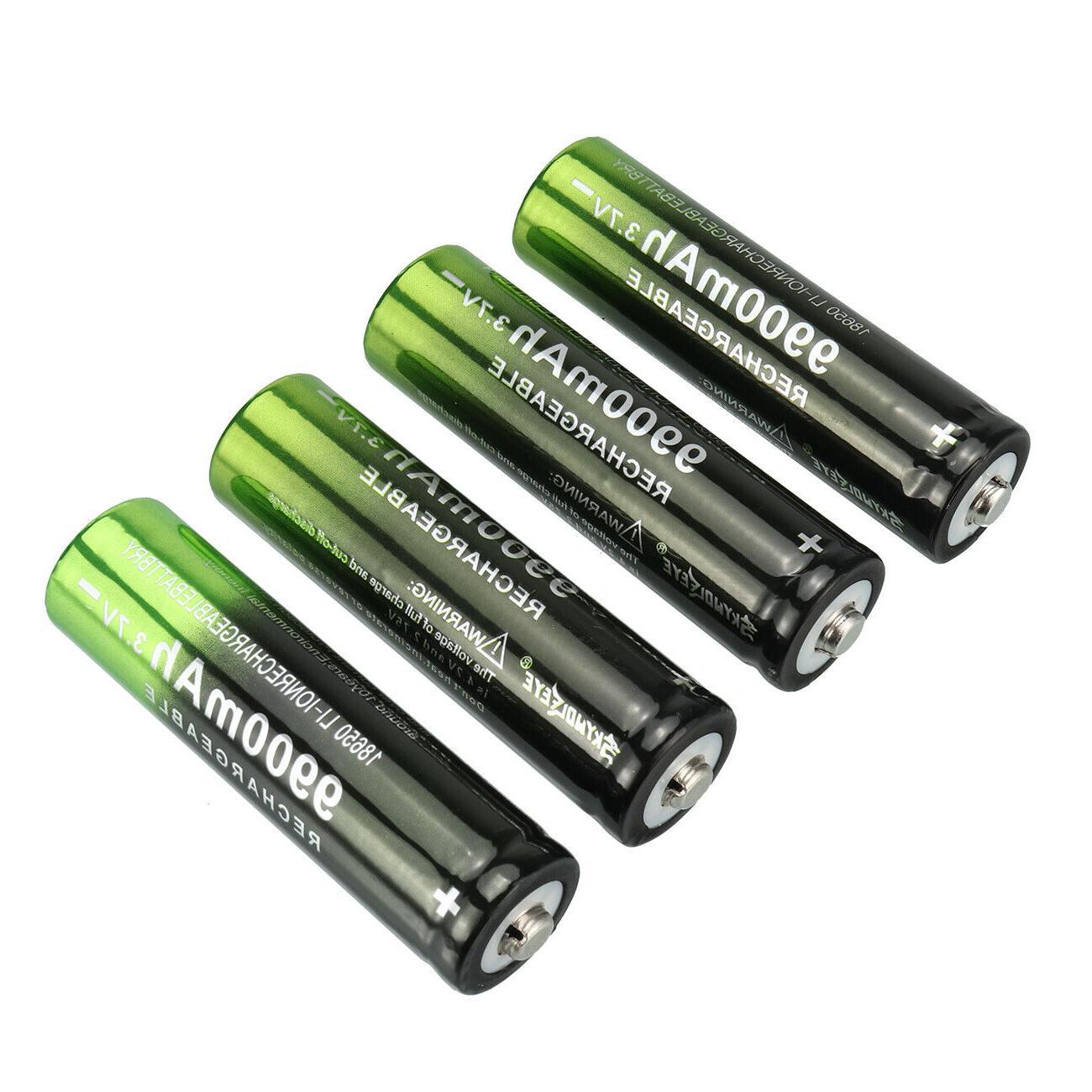 10X Battery Li-Ion Batteries for LED Flashlight