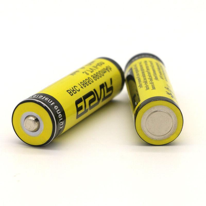 4pcs 3.7V 9900mAh Rechargeable Li-ion Battery Bat For Flashlight
